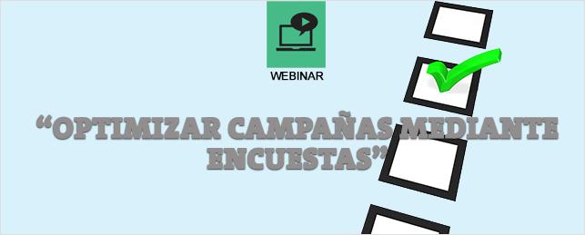 Webinar Optimizar Campañas con Encuestas
