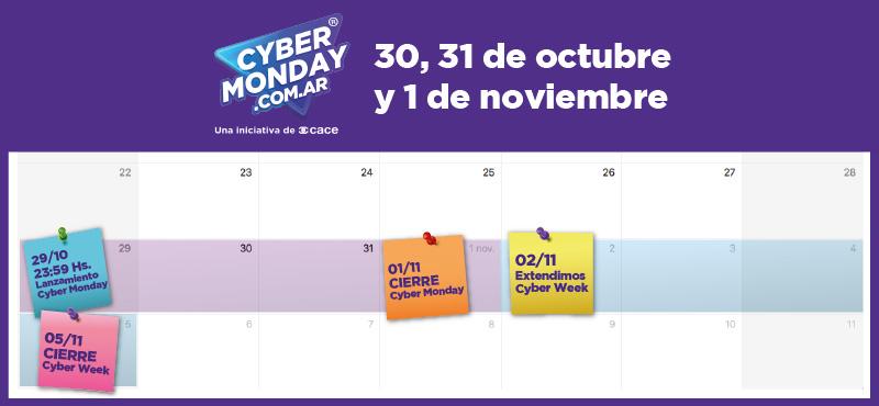 calendario cyber monday